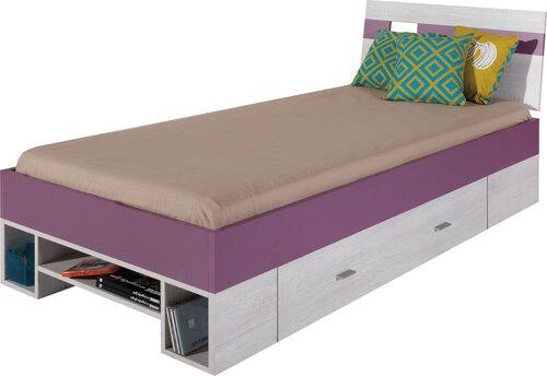 Gulta Next 19, 200x90 cm, balta/violeta
