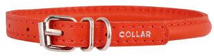 Collar ādas kaklasiksna Glamour, M, sarkana cena un informācija | Pavadas, apkakles, siksnas suņiem | 220.lv
