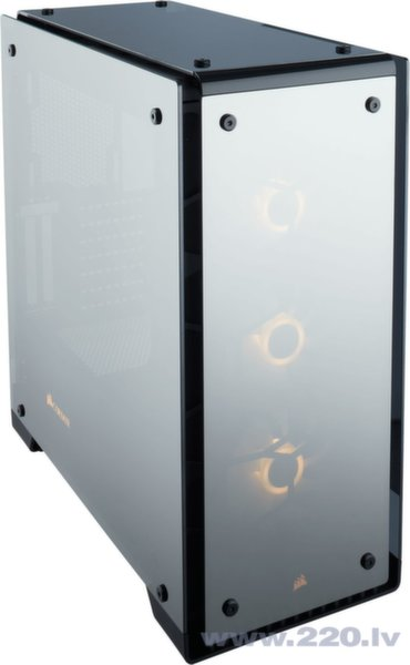 Case Midi Corsair Crystal 570x RGB bk