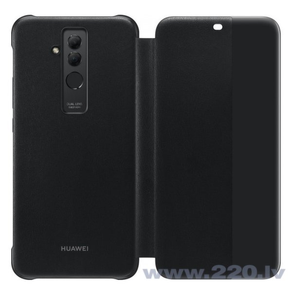 HUAWEI MATE 20 LITE VIEW FLIP COVER BLACK
