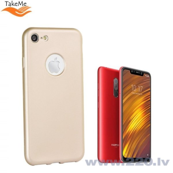 TakeMe aizsargvāciņš Xiaomi Pocophone F1, zeltīts