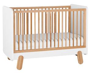 Bērnu gultiņa I'ga, 70x140 cm, balta/brūna