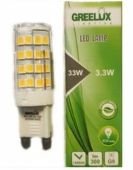 LED spuldze 3.3W 220-240V G9 Greelux