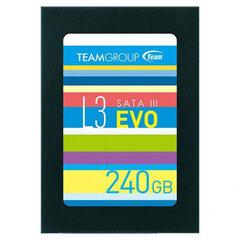 Team Group SSD L3 EVO, 2.5'', 240GB cena un informācija | Cietie diski (HDD, SSD, Hybrid) | 220.lv