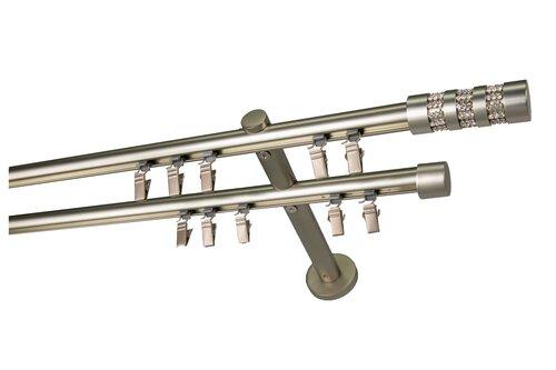 Dubultā karnīze Olimp, 200 cm cena un informācija | Aizkaru stangas, karnīzes | 220.lv