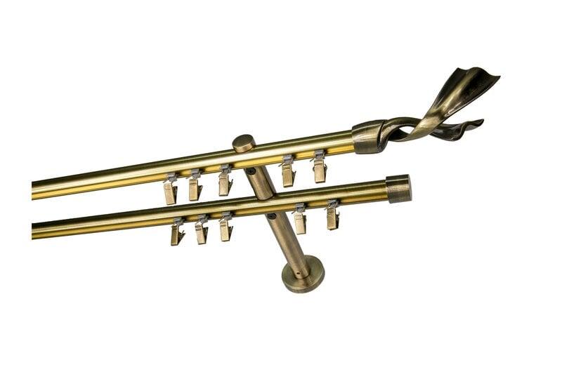 Dubultā karnīze Olimp, 250 cm cena un informācija | Aizkaru stangas, karnīzes | 220.lv