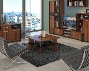 Кофейный столик Vectra, коричневый/черный цена и информация | Кофейные столики | 220.lv