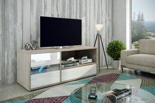 RTV galdiņš Global I, balts/ozols