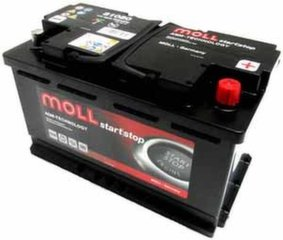 AGM akumulatoru MOLL 81080 Start-Stop Plus 80Ah 800A