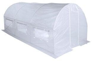 Siltumnīca balta ar logiem 12.5 m2 cena un informācija | Siltumnīcas | 220.lv