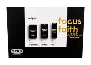 Komplekts STR8 Original: losjons pēc skūšanās vīriešiem 50 ml + dušas želeja vīriešiem 250 ml + izsmidzināms dezodorants vīriešiem 150 ml