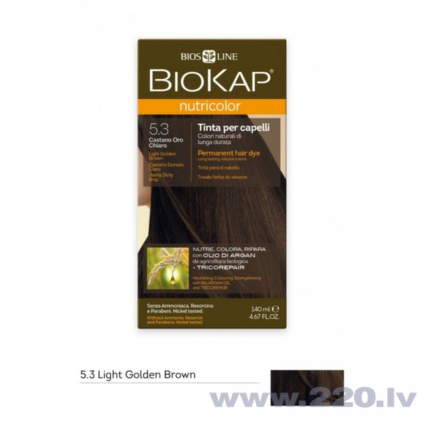Matu Krāsa Biokap Nutricolor Nr 53 Light Golden Brown Dye 140 Ml