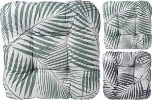 Krēsla spilvens, 38x38 cm, balts/pelēks/zaļš
