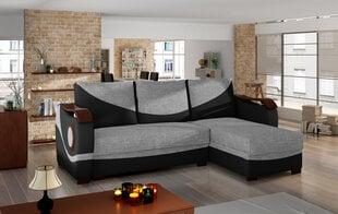 Universāls stūra dīvāns Puerto, pelēks/melns цена и информация | Диваны и кресла | 220.lv