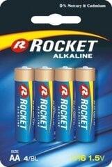 Rocket Alkaline AA baterijas, 4 gab. cena un informācija | Rocket Alkaline AA baterijas, 4 gab. | 220.lv