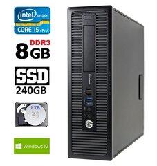 HP 800 G1 SFF I5-4570 8GB 240SSD+1TB DVD WIN10Pro cena un informācija | HP 800 G1 SFF I5-4570 8GB 240SSD+1TB DVD WIN10Pro | 220.lv