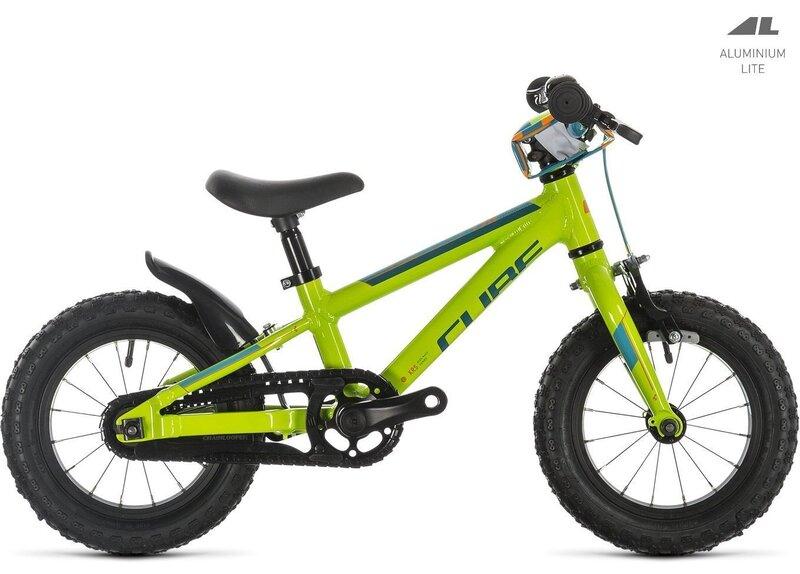 """Bērnu velosipēds Cube Cubie 120 12"""" 2019, zaļš/zils"""