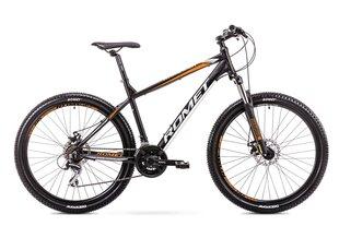 """Vīriešu kalnu velosipēds Romet Rambler R7.1 27,5"""" 2019, melnss/oranžs"""