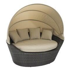 Āra dīvāns Mini Muse ar jumtu, brūns цена и информация | Кресла для сада | 220.lv