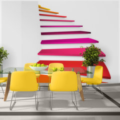 Foto tapete - Colorful stairs