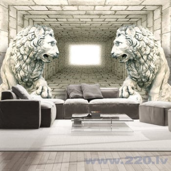Foto tapete - Chamber of lions