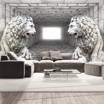 Foto tapete - Stone Lions