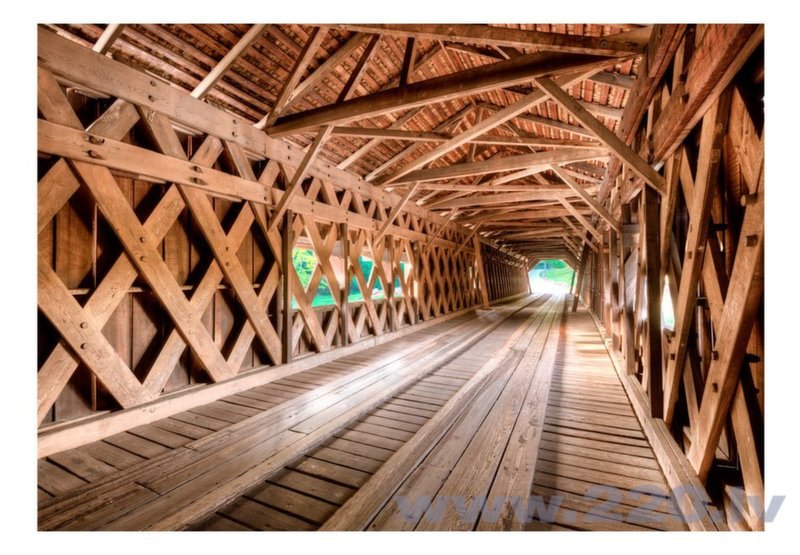 Foto tapete - Wooden Bridge