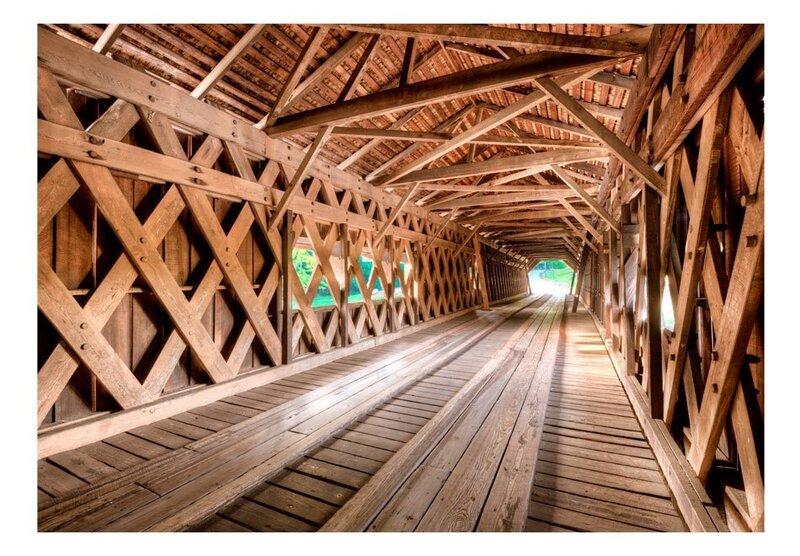 Foto tapete - Wooden Bridge