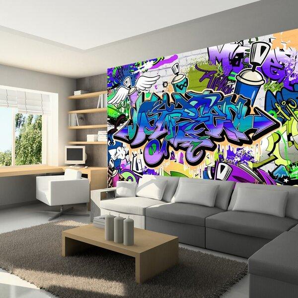 Foto tapete - Graffiti: violet theme