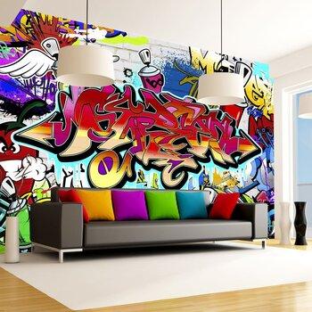 Foto tapete - Street art:red theme