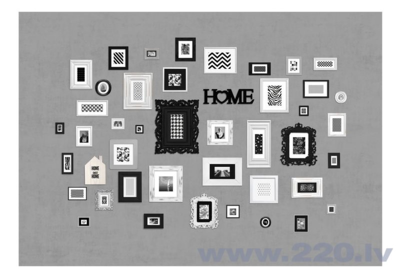 Foto tapete - Wall full of frames