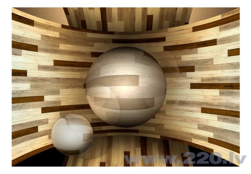 Foto tapete - Wooden orbit