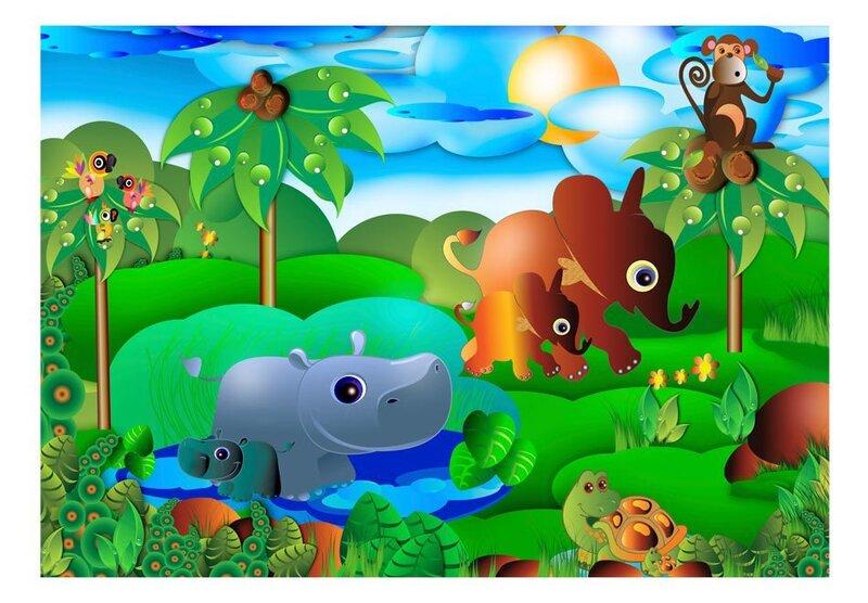 Foto tapete - Animal family