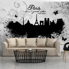 Foto tapete - Paris is always a good idea - black and white