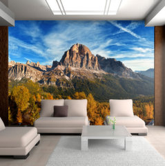 Foto tapete - Panoramic view of Italian Dolomites
