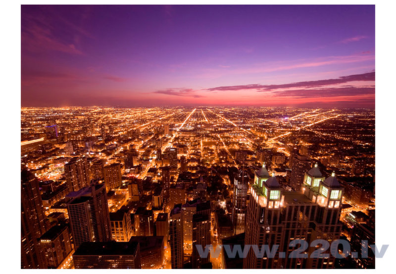 Foto tapete - Chicago by night cena