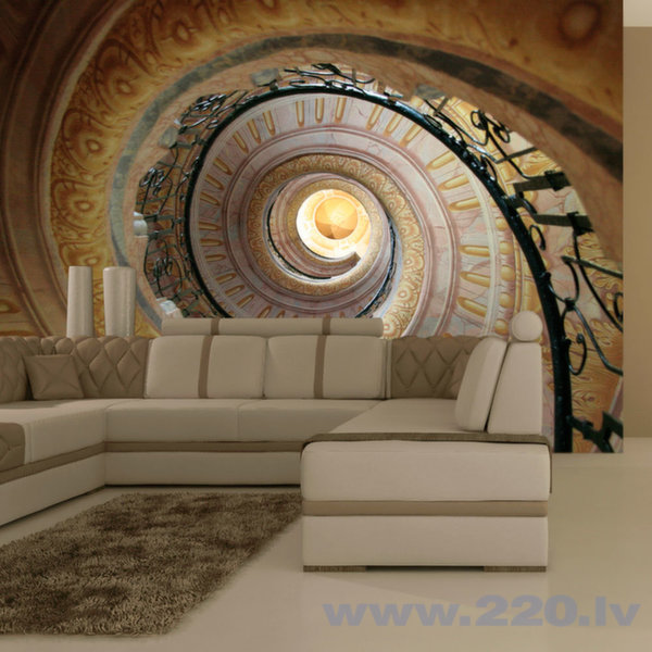 Foto tapete - Decorative spiral stairs