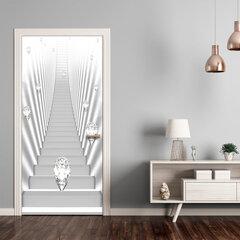 Foto tapete durvīm - Photo wallpaper - White stairs and jewels I cena un informācija | Fototapetes | 220.lv