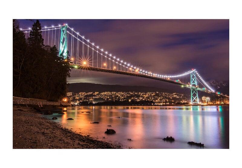 Foto tapete - Lions Gate Bridge - Vancouver (Canada) cena
