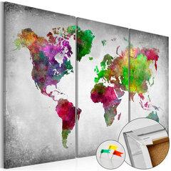 Attēls uz korķa - Diversity of World [Cork Map]