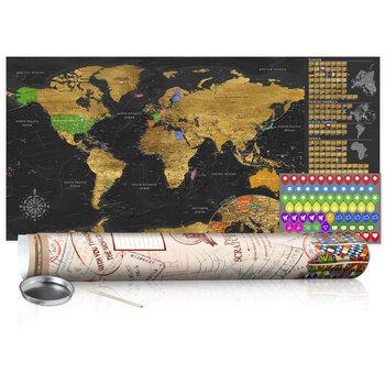 Nokasāma karte - Golden Map - Poster (English Edition)