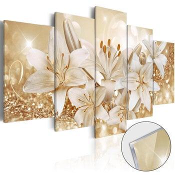 Akrila apdruka - Golden Bouquet [Glass] cena un informācija   Gleznas   220.lv