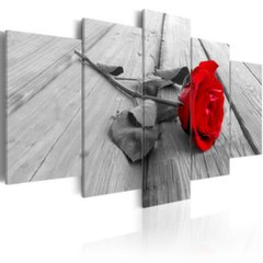 Glezna - Rose on wood