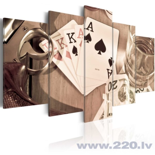 Glezna - Poker night - sepia