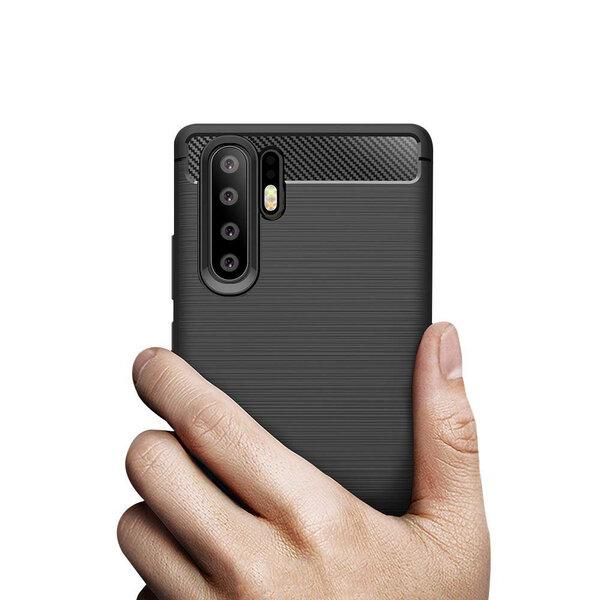 Carbon Case Flexible Cover TPU, piemērots Huawei P30 Pro, melns