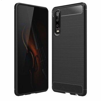 Carbon Case Flexible Cover TPU, piemērots Huawei P30, melns