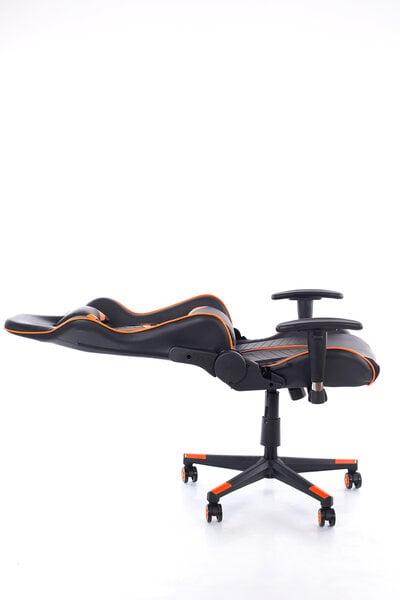 Игровой стул 9206, оранжевый/черный цена