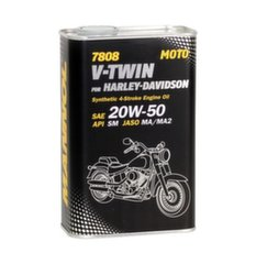 Mannol 7808 V-Twin for Harley-Davidson 20W-50, 1L