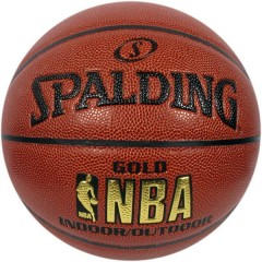 Basketbola bumba Spalding NBA Gold Indoor Outdoor