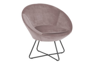 Krēsls Center, rozā/melns